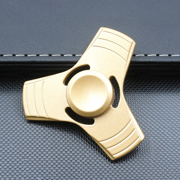 Wholesale Tri Aluminum Fidget Spinner Stress Reducer Toy for Autism Adult, Child (Gold)
